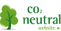 klik for at se vores certifikat for et CO2 neutralt website