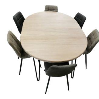 runder Tisch ohne zusätzlichen Teller