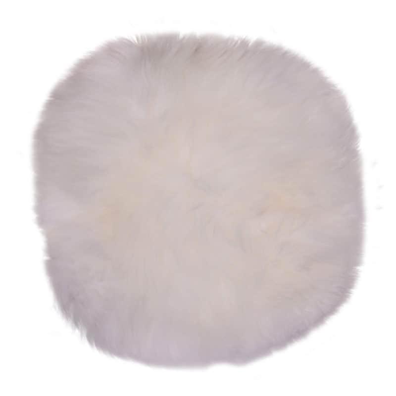 Lammfellkissen in Weiß