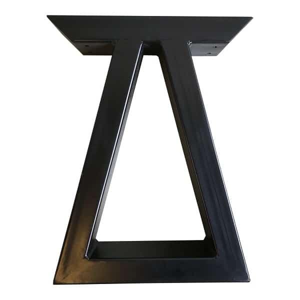 Bein zur Bank trapezförmig schwarz