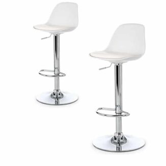 White_bar Chair_chrome_frame doppelt