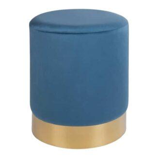 Puf Deluxe blauer Velours