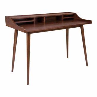 Schreibtisch in Walnussschräge