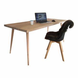 Schreibtisch schräg konisch gedrehte Tischbeine