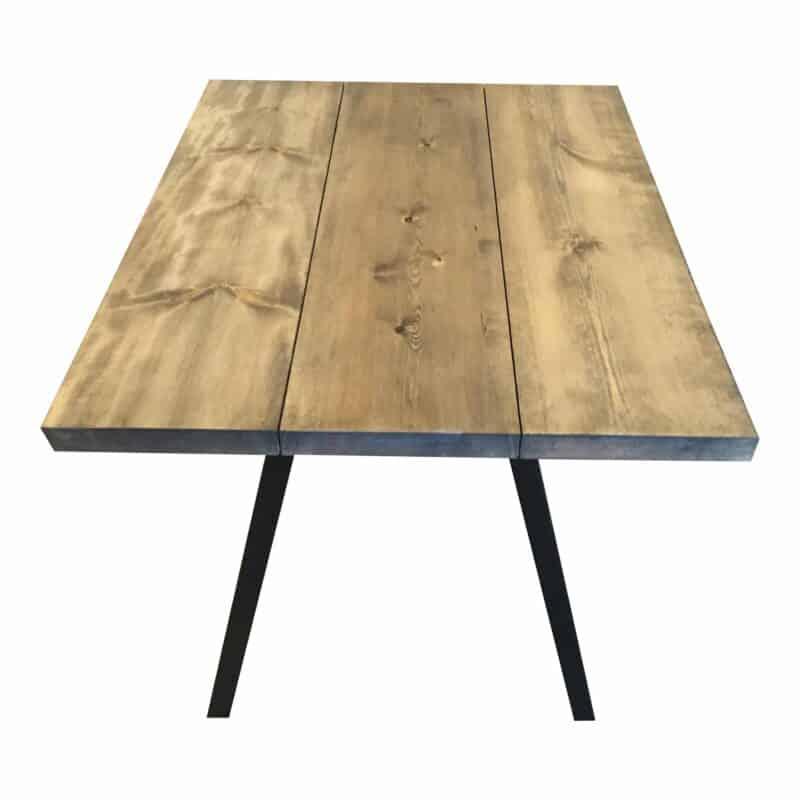 Kiefernholz Plank Tisch Ebenholz