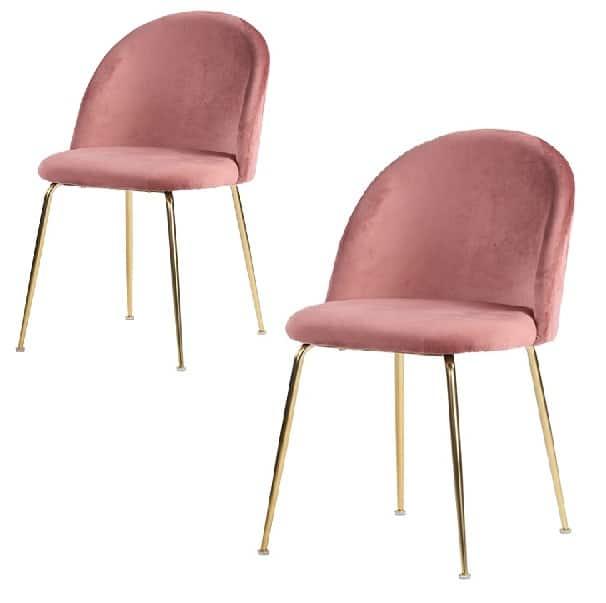 Genfer Esszimmerstuhl pink