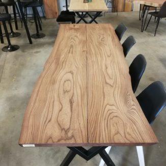 Brett Tischulme mit Ebenholzöl 90x247 cm