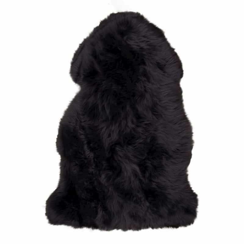 Imitiertes Lammfell schwarz