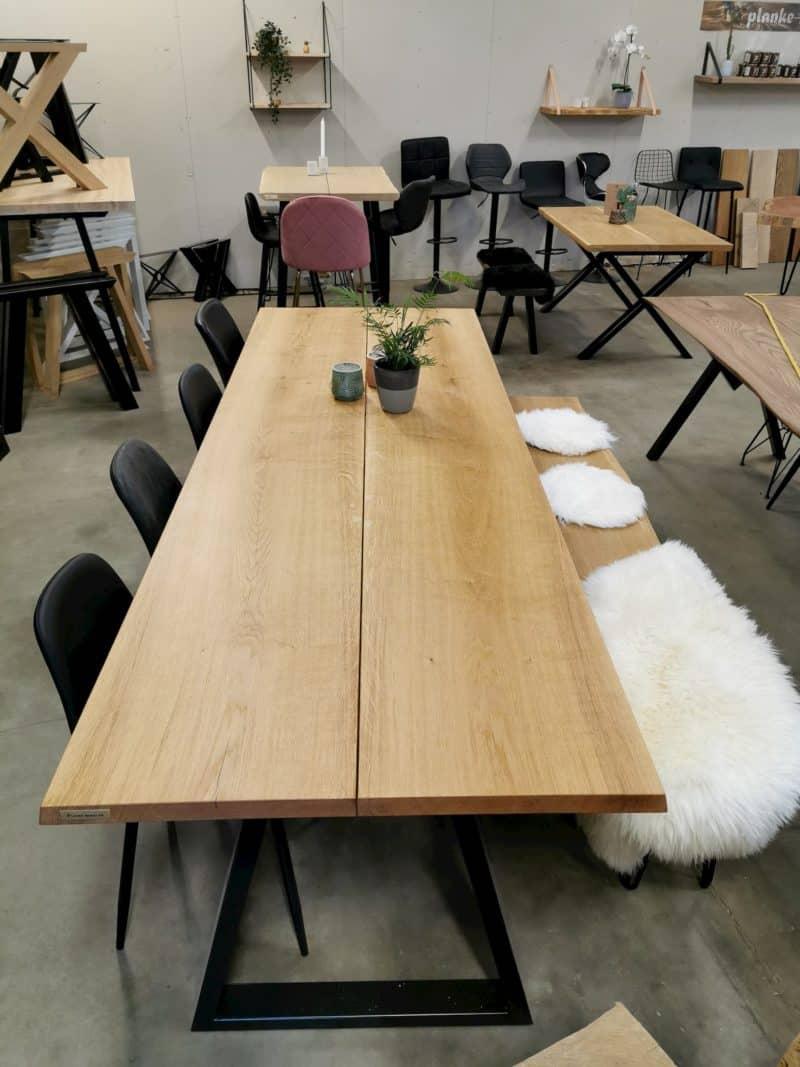 Plank Tisch Eiche 2 Planken Naturöl 15 Grad nach oben