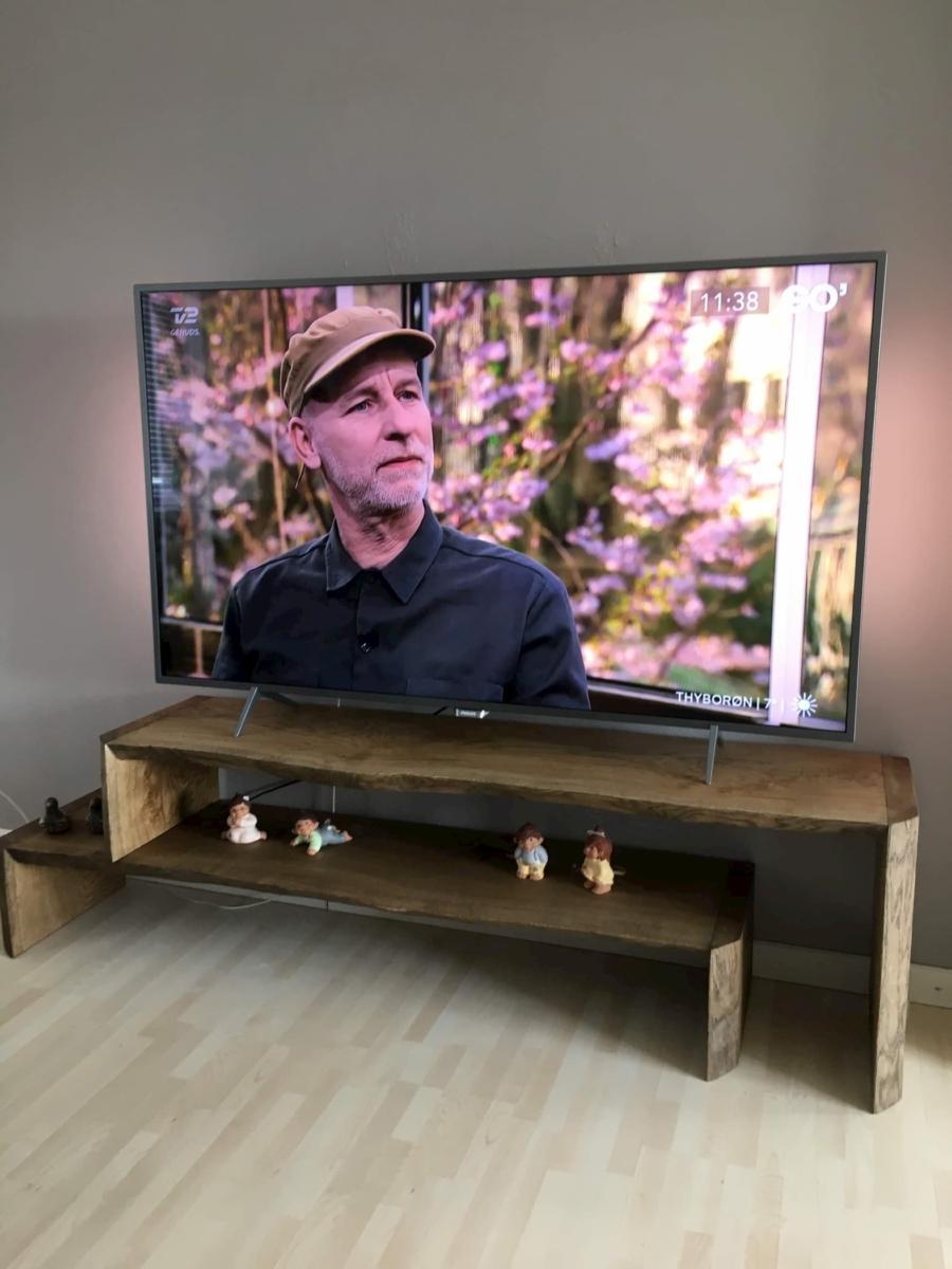 TV tisch aus eiche mit ebenholz Öl