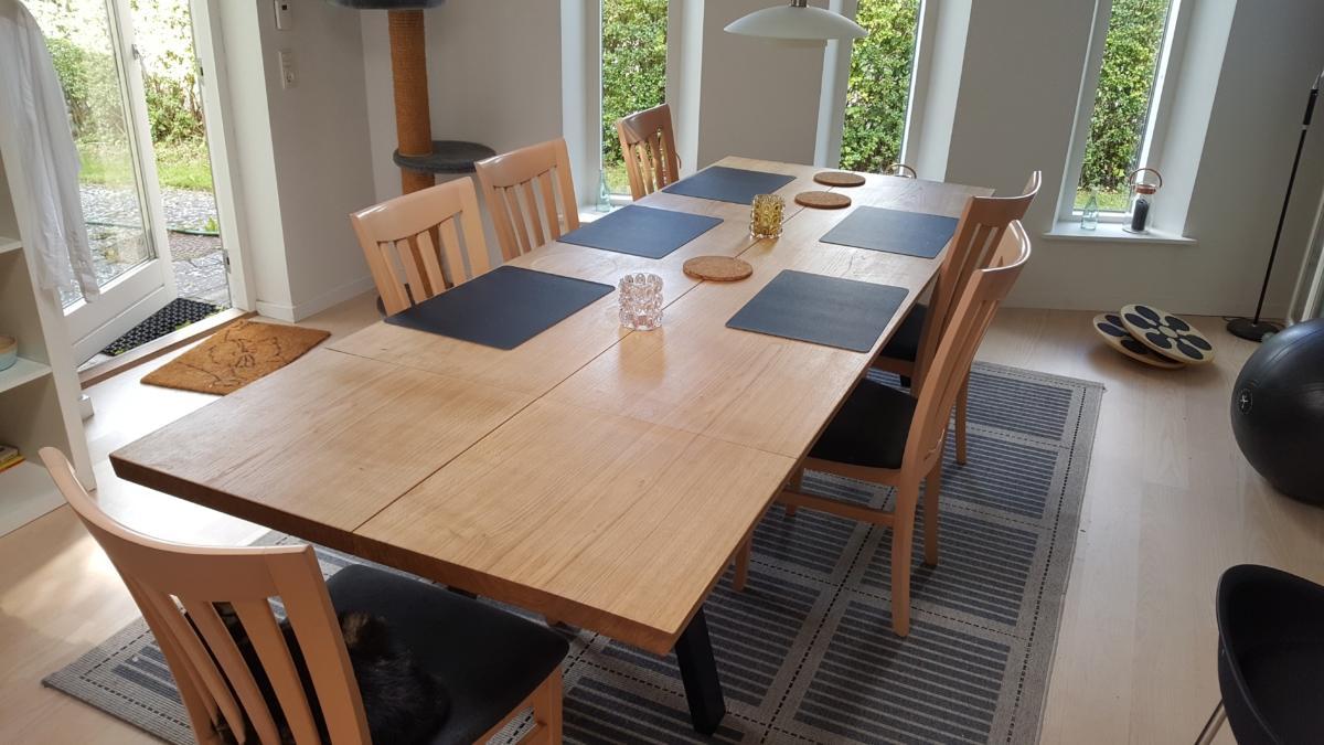 Plankebord eg stilren 2 planker 15 graders kanter og naturolie